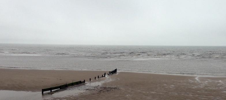 Between Blackpool & Fleetwood.