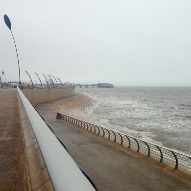 Strong winds, Blackpool.