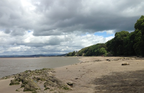 Walking towards Arnside.