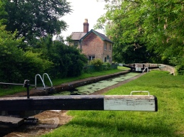 Lock keeper's cottage.