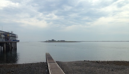 Piel Castle from Roa Island.