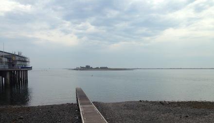 Piel Castle from Roa Island.