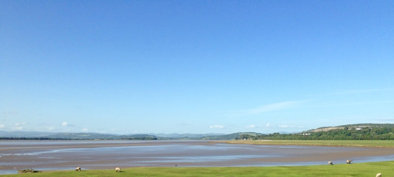 The estuary inland from Arnside.