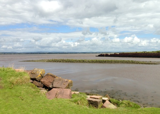 Port Carlisle - the remnants.