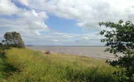 The encroaching sea.