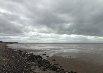 North side of the Solway Firth, Scotland.