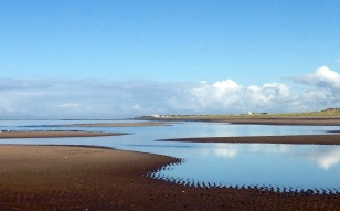 Low tide, early morning; near Ayr.