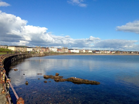 Ardrossan, looking back to Saltcoats.
