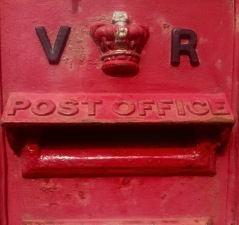 A very old postbox.