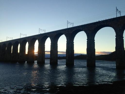 Looking south towards the next walk. The Royal Border Bridge over the River Tweed at Berwick.