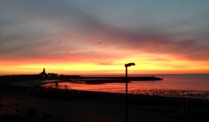 Sunrise. Newbiggin by the Sea.
