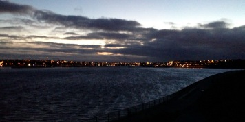 Tynemouth - across the river to South Shields.