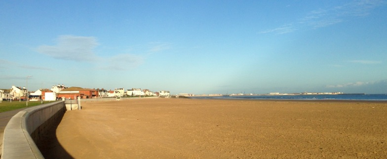 The beach at Seaton Carew.