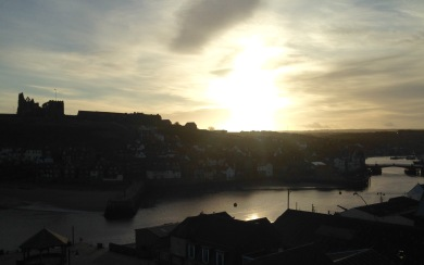 Leaving Whitby, early.