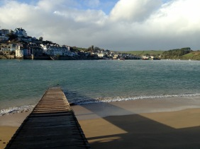 Waiting for the Portlemouth to Salcombe ferry.