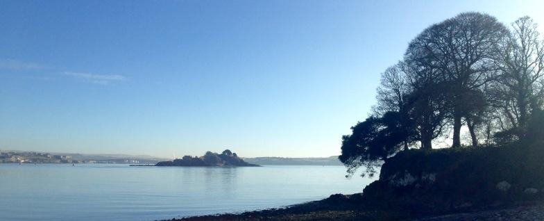 Stillness and silence; Plymouth Sound.