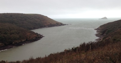 Mouth of the River Yealm; last river before Plymouth.