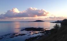 Approaching Looe; sunset.