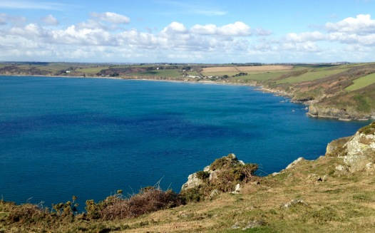 St. Gerrans Bay from Nare Head.