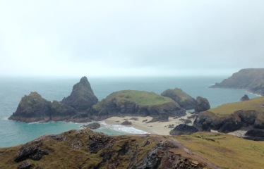 Mullion Cove during a break in the weather.