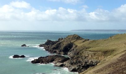 Lizard Point & first view of Land's End.