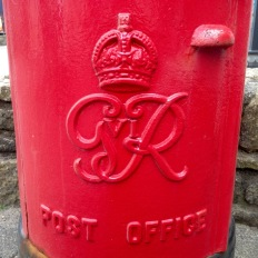 Most westerly postbox in Britain.