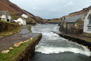 Boscastle; bunkhouse at right.