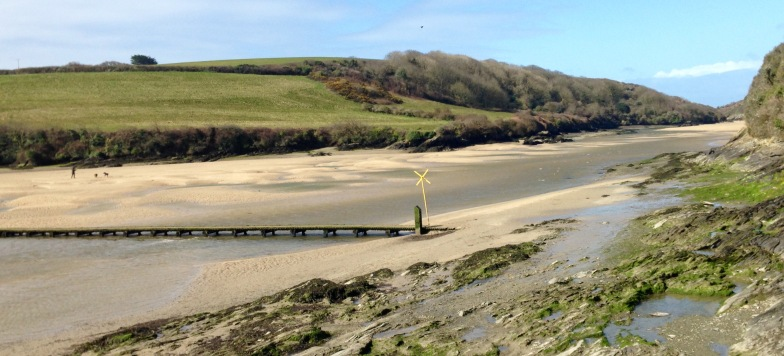 Tidal footbridge to Newquay.