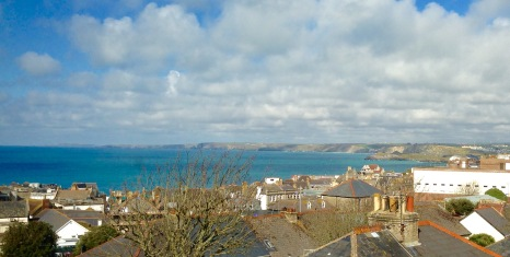 View over Newquay from my B&B.