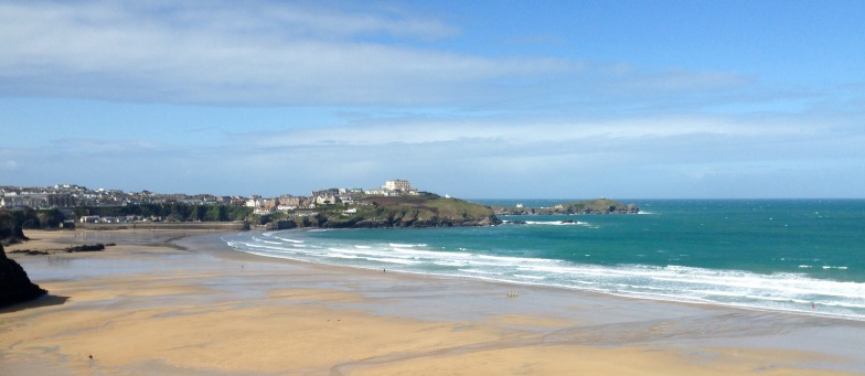 Looking back to Newquay.