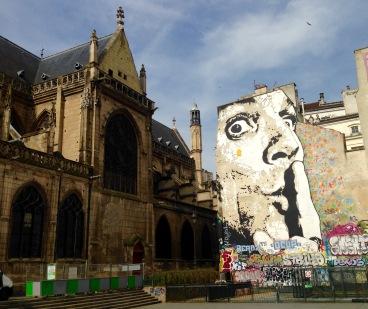 Mural opposite the Centre Pompidou.