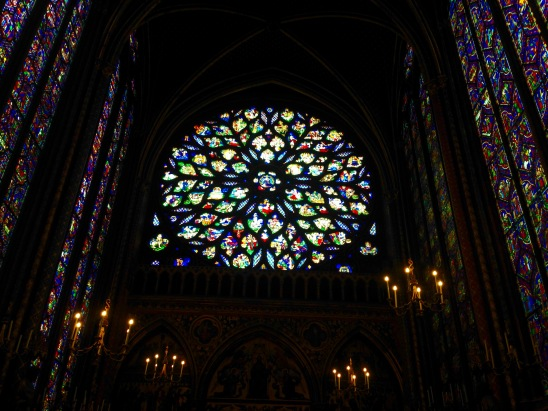 Stained glass, Sainte-Chapelle.