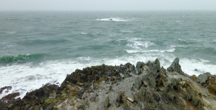 Morte Point, in the rain.