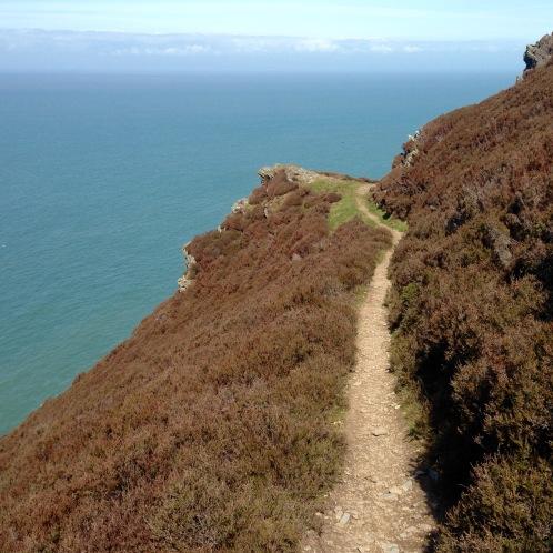 High path, like walking a tightrope.