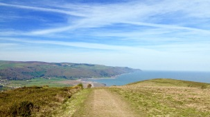 Walking up to Exmoor from Bossington.