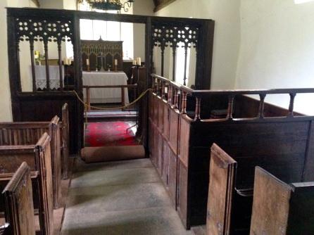 Box pew, St. Beuno's Church.