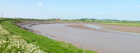 Following the muddy River Parrett inland to Bridgwater.