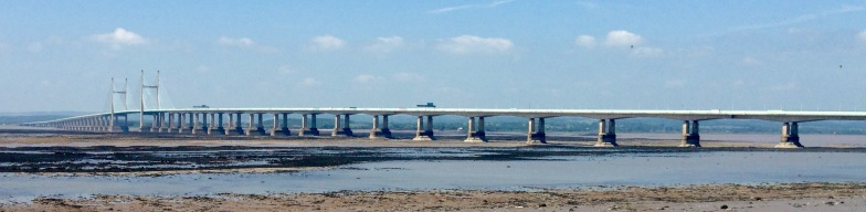 Second Severn Crossing, where the Severn Estuary becomes the River Severn.