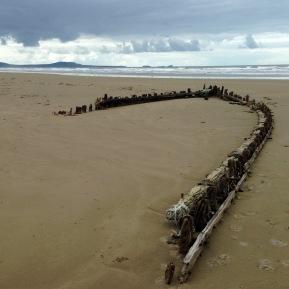 Shipwreck 1. Cefn Sidan Sands.