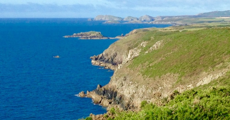 Looking ahead along the coast from St. David's, to the next walk, to the most westerly point of mainland Wales.