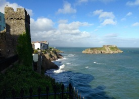 Tenby, Norman walls and St. Catherine's Island.