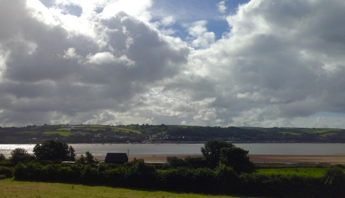 Looking over the Afon (River) Tywi from Llansteffan to Ferryside.