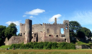 Laugharne Castle.