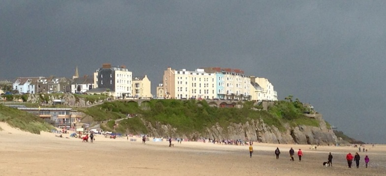Tenby, storm lighting.