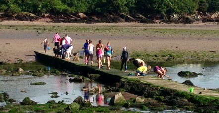Tidal crossing, Sandy Haven.