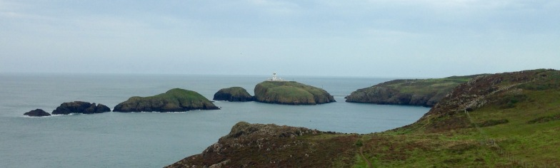 Strumble Head, with lighthouse.