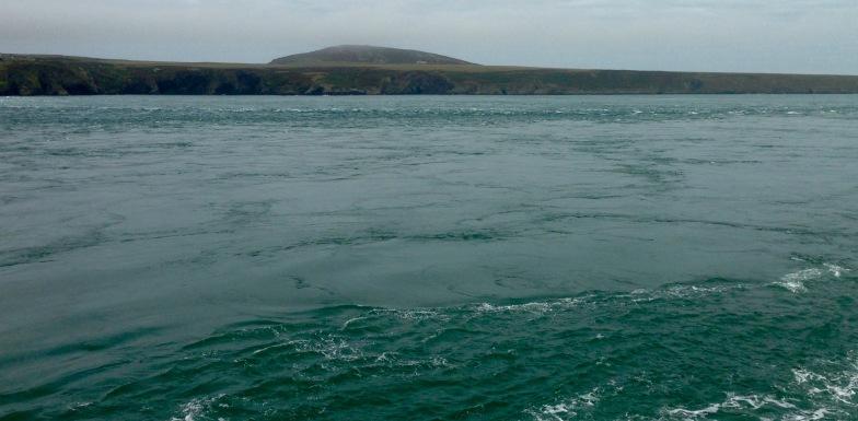 Tide race, Ramsey Sound.