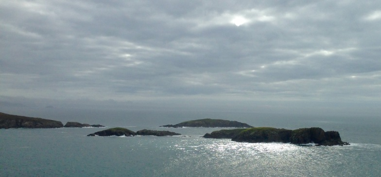Foggy start; St. Non's Bay,