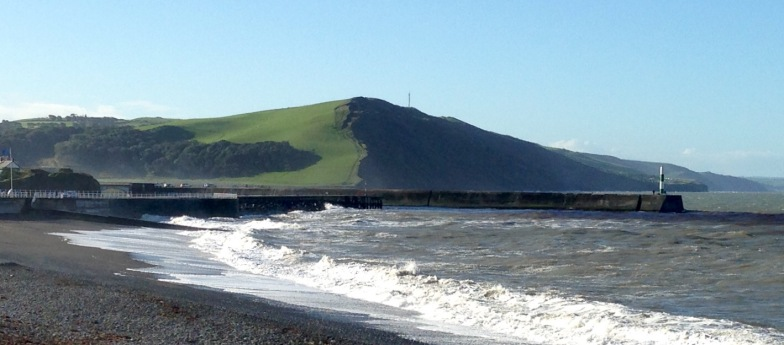 Looking back from Aberystwyth.