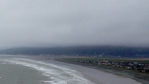 Morning fog rising above Barmouth,